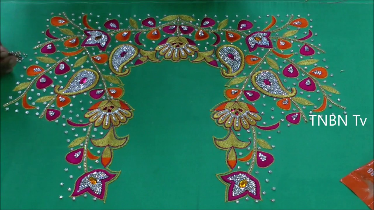 Hand Work Embroidery Blouse Designs