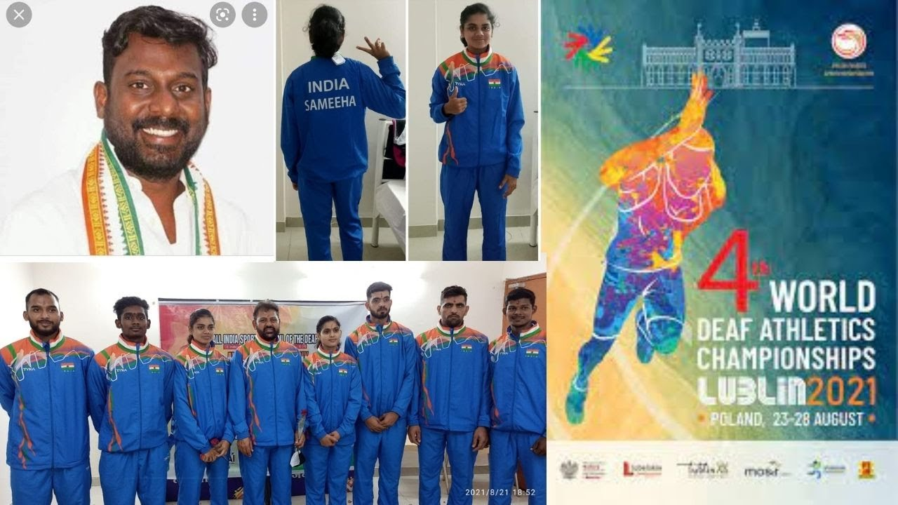 India Deaf athletics team to 4th World Athletics Championship of the Deaf at Poland