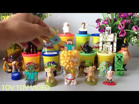PLAY DOH SMILEY Disney Princess Fashion Lunch Box Surprises  Winx Peppa Unboxing Barbie Lunch Bag in