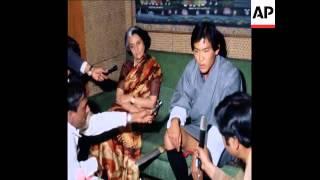 UPITN 25/2/80 ARRIVAL OF KING JIGME SINGYE WANGCHUCK OF BUTAN TO INDIA
