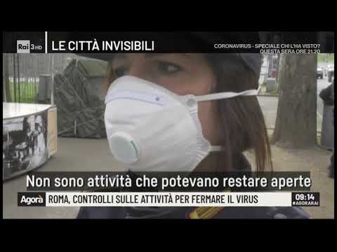 Roma, posti di blocco per fermare il virus, a bordo di una volante - Agorà 13/03/2020