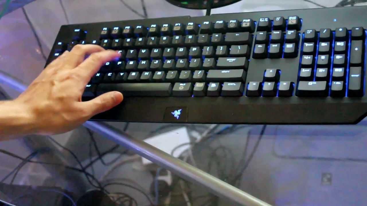 Razer BlackWidow Ultimate Stealth Edition Gaming Keyboard Review - YouTube