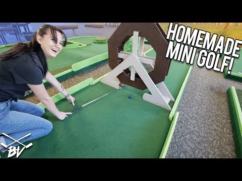 WE FOUND AN AWESOME HOMEMADE MINI GOLF COURSE!