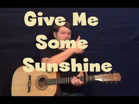 Give Me Some Sunshine (3 Idiots) Easy Strum Guitar Lesson How to Play Tutorial