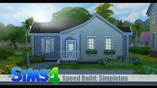 The Sims 4 Speed Build: Simpleton