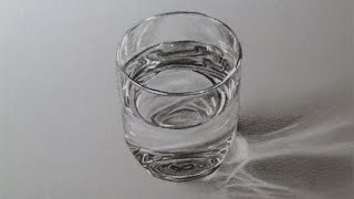 How to draw a Glass of Water, Time lapse