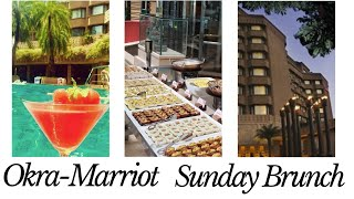 Sunday Brunch | Marriott Hyderabad | Lavish lunch buffet |  Food with the best view
