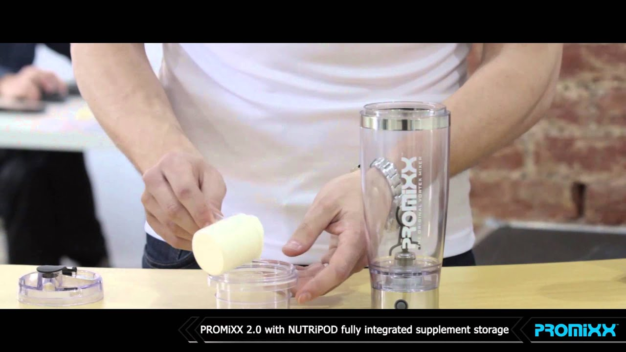 The NUTRiPOD - PROMiXX 2 0's fully integrated supplement storage