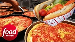 The History Of Chicago Style Deep Dish Pizza And Hot Dogs | Bizarre Foods: Delicious Destinations