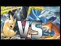 **NEW**  Reshiram & Charizard VS Pikachu & Zekrom - Unbroken Bonds Pokemon TCG Tabletop Gameplay