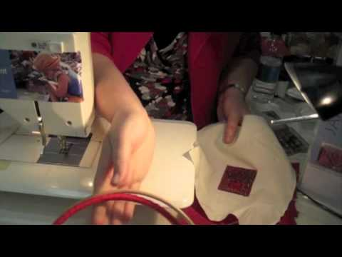 Textile Art - How to make a brooch