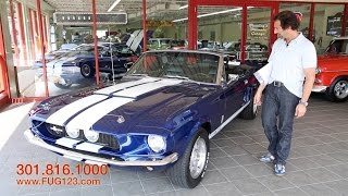1968 Ford Shelby Mustang GT350 for sale with test drive, driving sounds, and walk through video