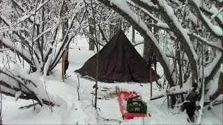 Alaska New Years Eve Hot Tent Campout