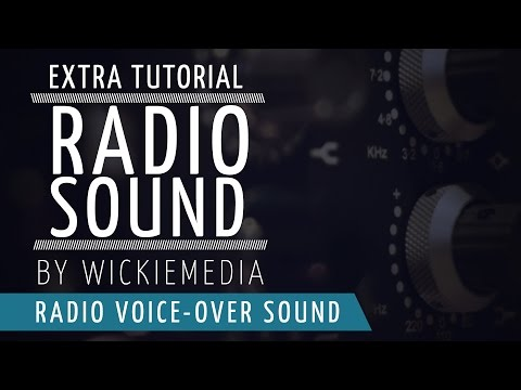 """How to create a """"Radio type"""" Voice-Over Sound..."""