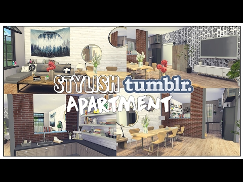The Sims 4: Apartment | Stylish Tumblr Apartment + Download!