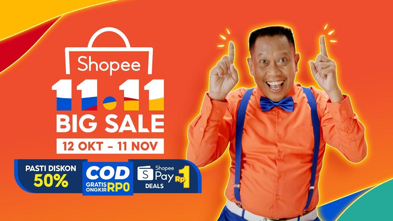 Shopee 11 11 Big Sale Nikmati Cod Gratis Ongkir Tanpa Minimum Belanja Youtube