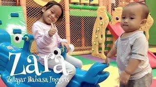 Zara bermain sambil belajar bahasa inggris nama binatang laut 😍 mandi bola di mini playground