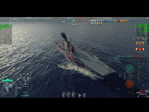 World of Warships: Lexington Replay, Learning how to CV.