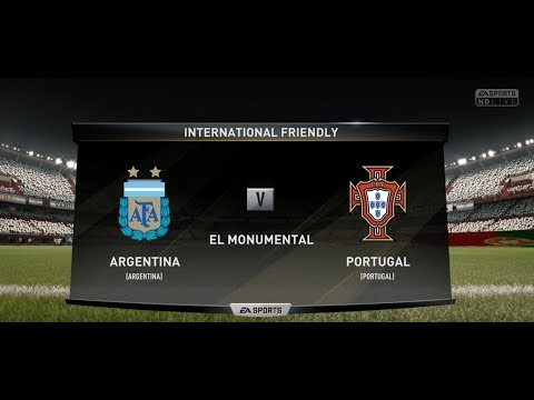 FIFA 18 ARGENTINA VS PORTUGAL XBOX ONE S PC PS4 FULL FOOTBALL MATCH GAMEPLAY