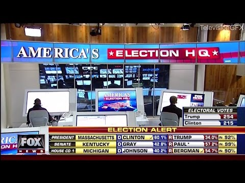FOX Broadcast Network Election Night Open and Close 2016