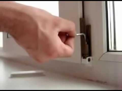 Как опустить пластиковое окно вниз