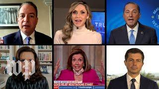 Democrats slam 'Trump virus response' as president's surrogates defend him
