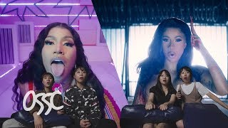 Korean Girls React To Cardi B & Nicki Minaj At The Same Time