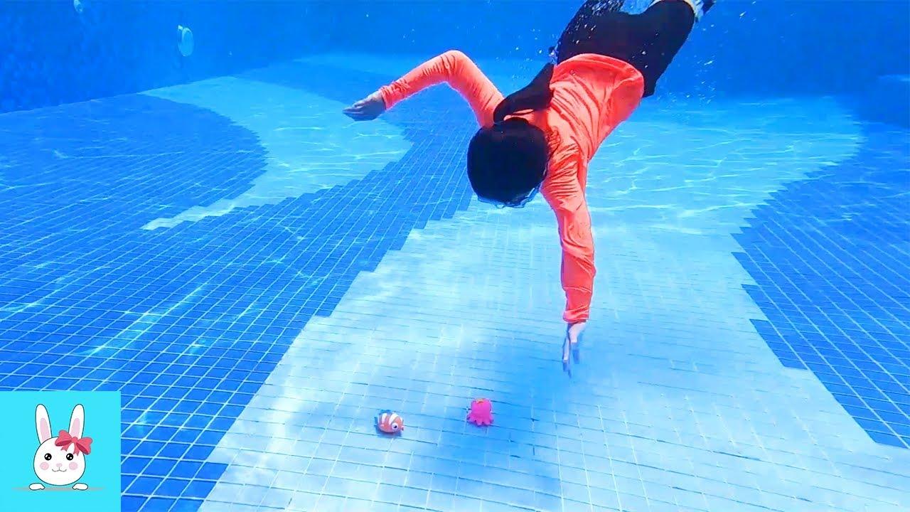 수영장에 빠진 바다 친구들을 구해줘요! حفظ رفاقا بركةㅣRabbitPlus