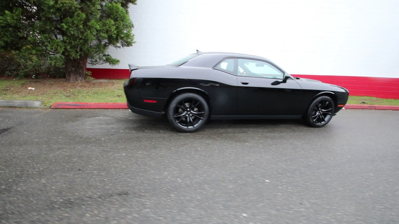 2016 Dodge Challenger Sxt Plus >> 2017 Dodge Challenger SXT Plus | Pitch Black Clearcoat | HH503092 | Redmond | Seattle | - YouTube