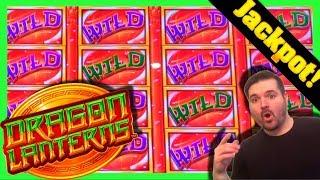 JACKPOT LIVE AS IT HAPPENS ON DRAGON LANTERNS SLOT MACHINE! Casino Live Stream W/ SDGuy1234