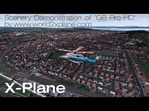 "[X-Plane] ""GB Pro HD"" scenery demonstration – Flight from Glasgow to Edinburgh"