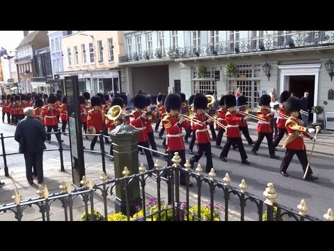 Changing of the Guard at Windsor Castle - Saturday the 1st of April 2017