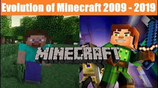 Evolution of Minecraft (2009-2019)
