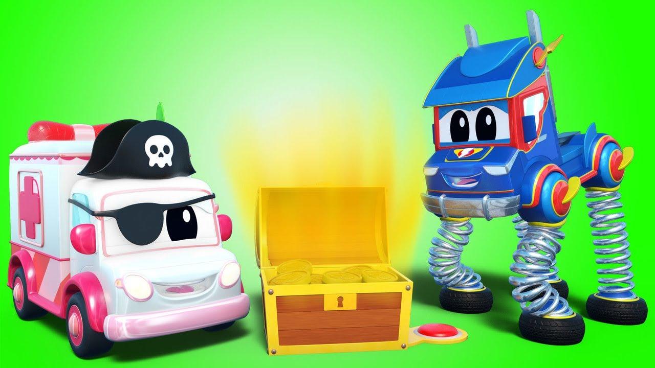 弹簧卡车找到了海盗宝藏! | Super Truck | 汽车城世界APP