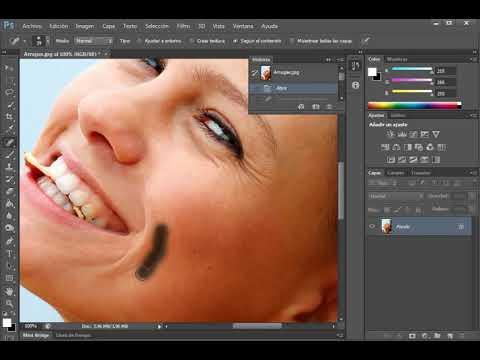 Cómo Eliminar Arrugas Con Photoshop Youtube