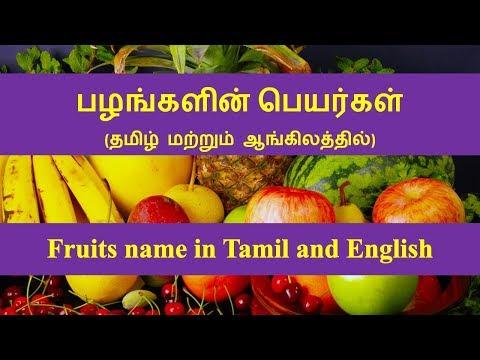 Fruits Name In Tamil And English | பழங்களின் பெயர்கள் (தமிழ் மற்றும் ஆங்கிலத்தில்)