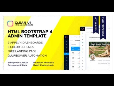 Clean UI HTML — Bootstrap Admin Template | Themeforest Templates