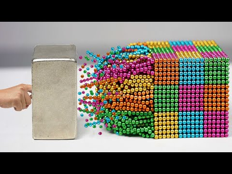 Magnetic Balls VS Monster Magnets in Slow Motion