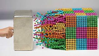 Magnetic Balls VS Monster Magnets in Slow Motion