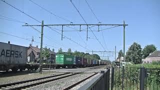LTE 186 298-6 met Containertrein langs Gilze Rijen.