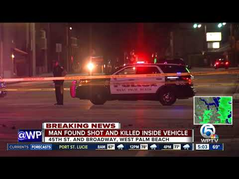 Man found dead inside West Palm Beach vehicle