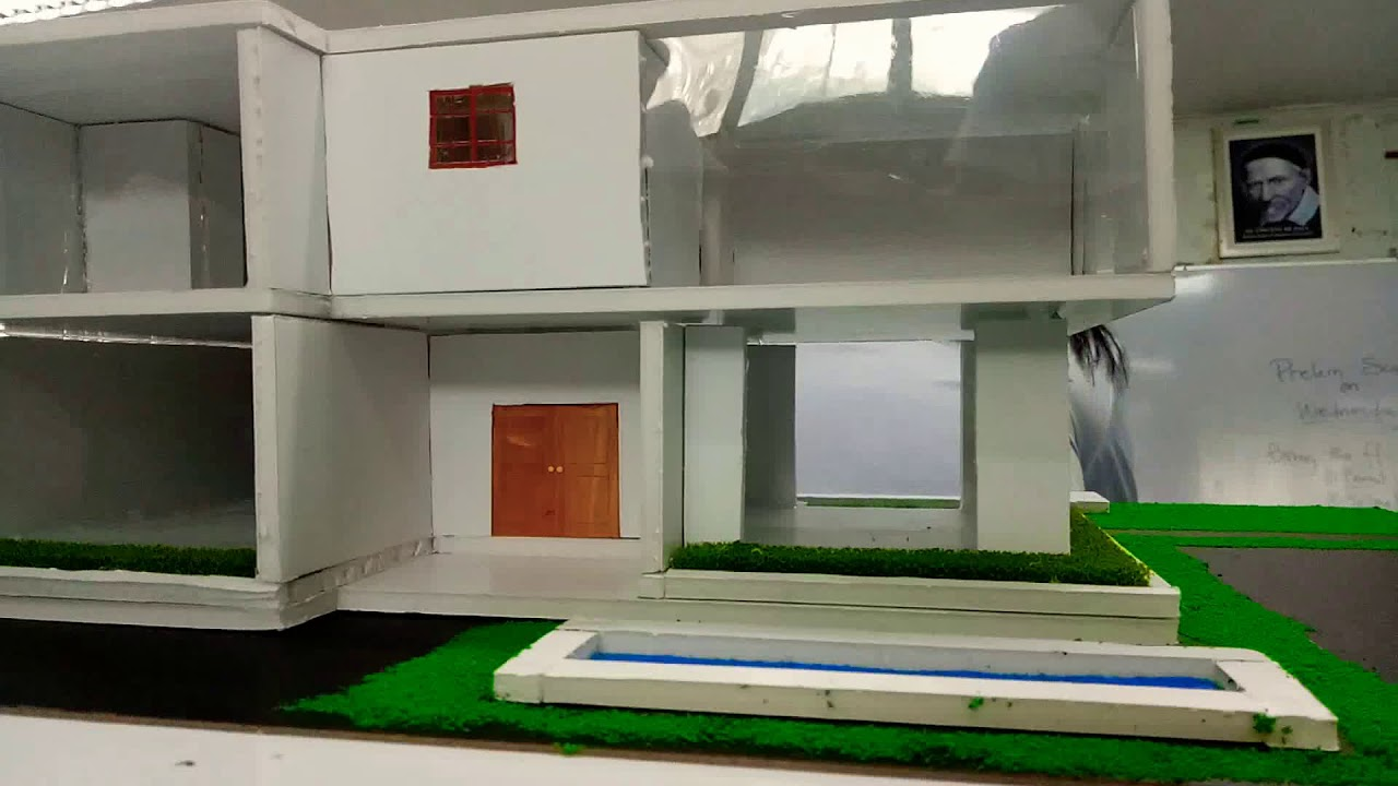 Modern House Scaled Model Sample Architecture