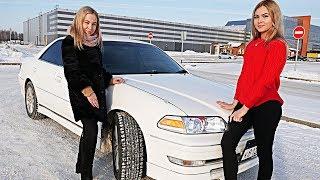 БЛОНДИНКИ ГОНЯЮТ на Toyota Mark II Тойота Марк 2 vs ДЕВУШКА!