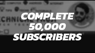 50k Subscribers Congratulations Family ❤️❤️ | Technical Fauji