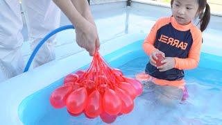 물풍선은 너무 신기해요!! 서은이의 여름 물놀이 물풍선 색깔 영어공부 타요 미끄럼틀 Colorful Water Balloon Seoeun Story