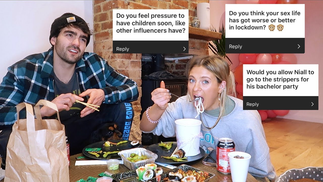 sushi mukbang & juicy questions.. pregnancy pressure? wedding cancelled?