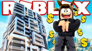 BUILDING A 10 BILLION SKYSCRAPER IN ROBLOX! (Roblox Skyscraper Simulator)