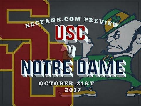 USC vs Notre Dame - Computer Model & Preview Predictions - 2017 - SC ND
