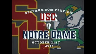 Usc vs notre dame - computer model & preview predictions - 2017 - sc nd