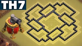 Best UNDEFEATED #1 Town Hall 7 (TH7) War/Hybrid Base with Air Sweeper | ANTI DRAG | Clash of Clans
